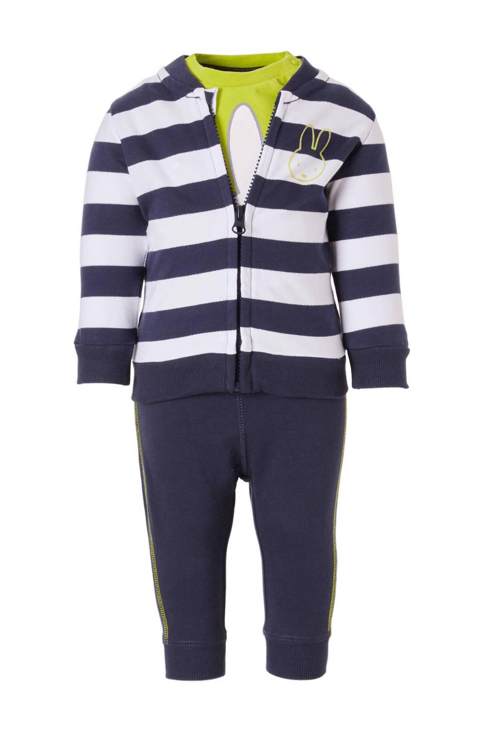 C&A nijntje vest + broek, Donkerblauw/wit