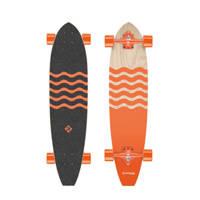 StreetSurfing Kicktail Out longboard, Oranje/zwart