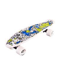 StreetSurfing Skeletron Fuel pennyboard, Wit/blauw