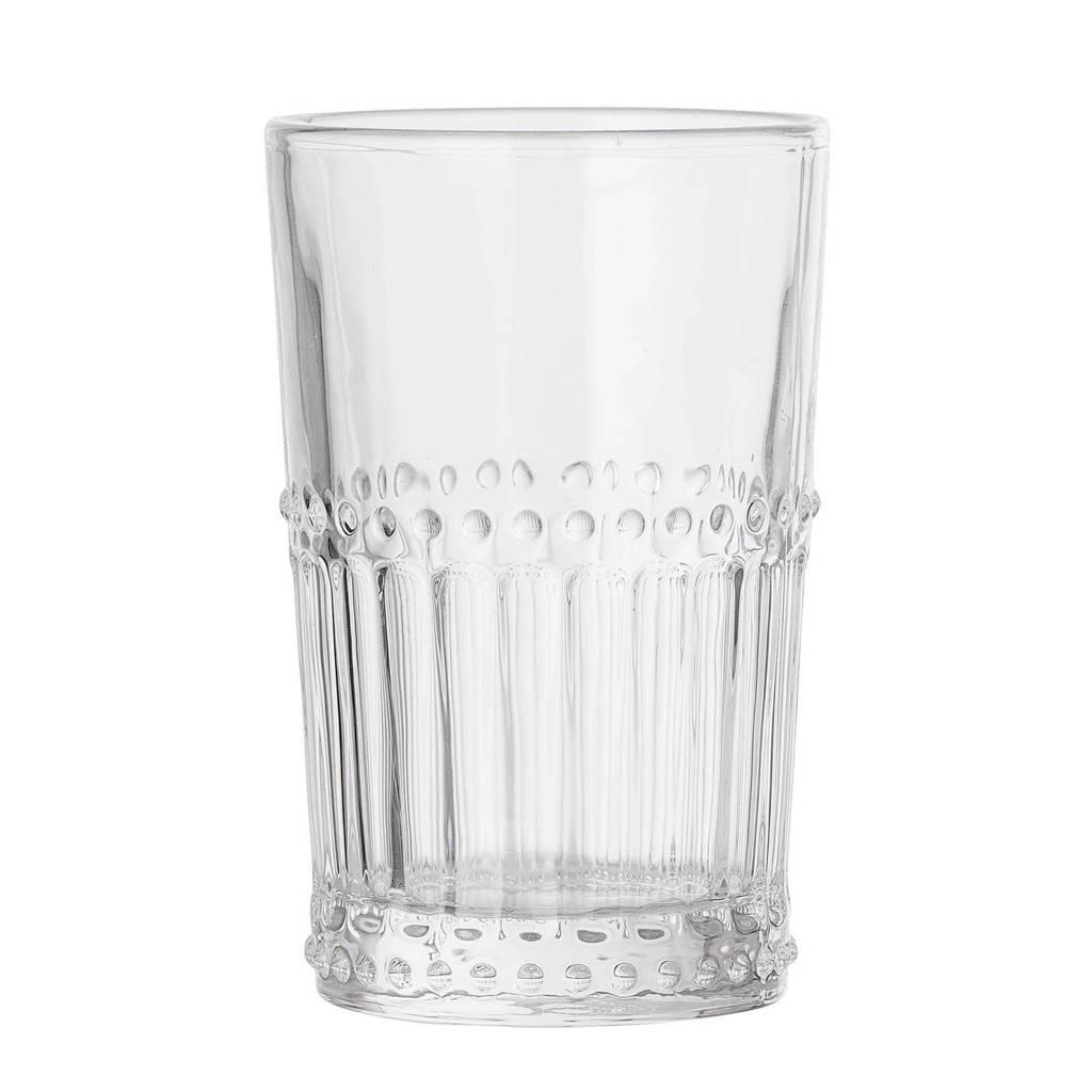 Bloomingville longdrinkglas (Ø8 cm), Transparant