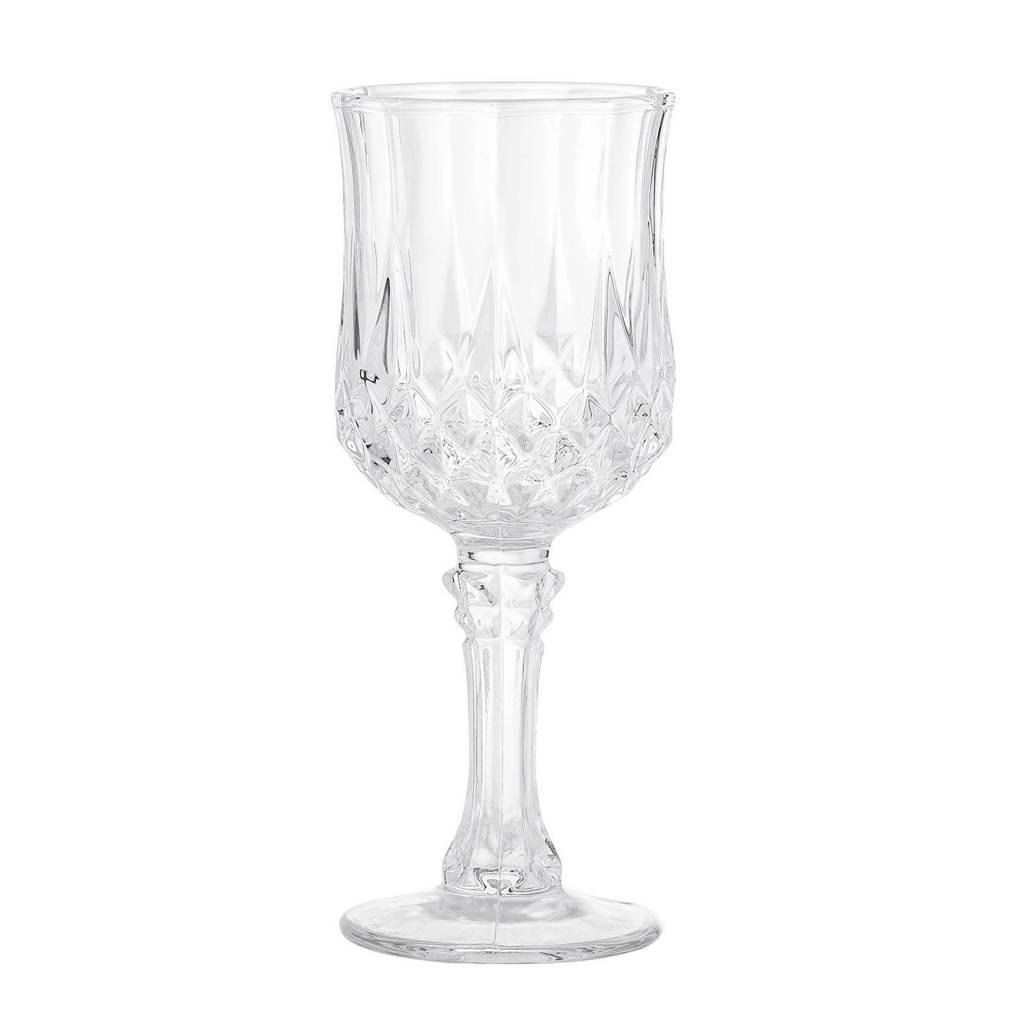 Bloomingville witte wijnglas (Ø6,5 cm), Transparant