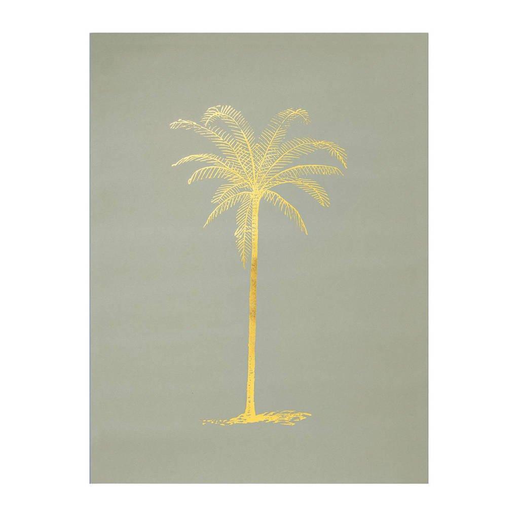 Bloomingville poster (40x30 cm), Groen/goud