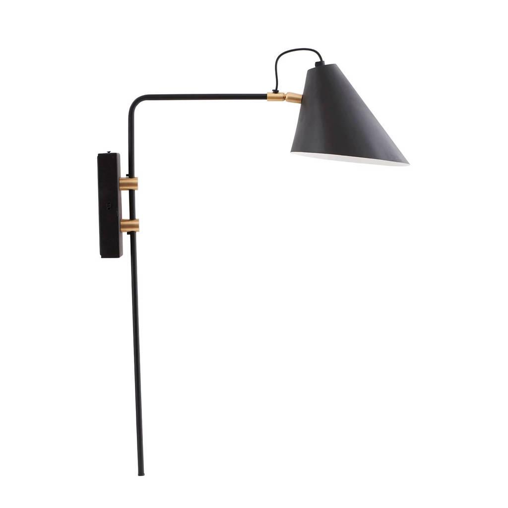 House Doctor wandlamp Club, Zwart/goud