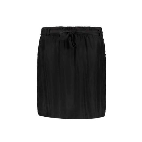 rok met knoopceintuur zwart
