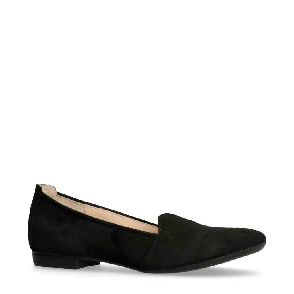 Manfield   suède loafers, Zwart