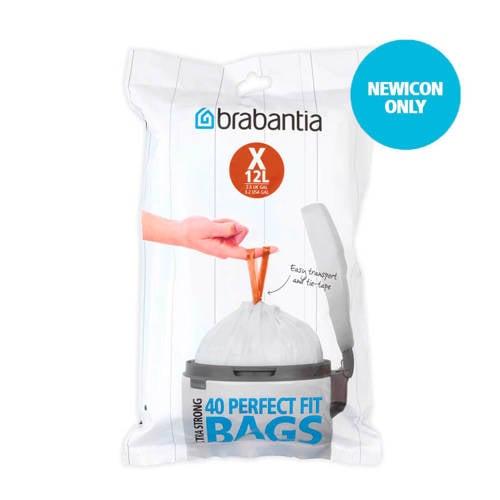 Brabantia 40 afvalzakken, code X 10-12 liter kopen