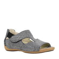 Waldlaufer  Comfort Heliett suède sandalen, Zwart