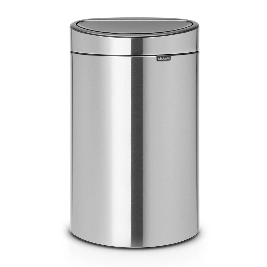Brabantia Touch Bin Recycle, 10+23 liter prullenbak, Matt steel, 33