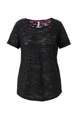T-shirt met mesh