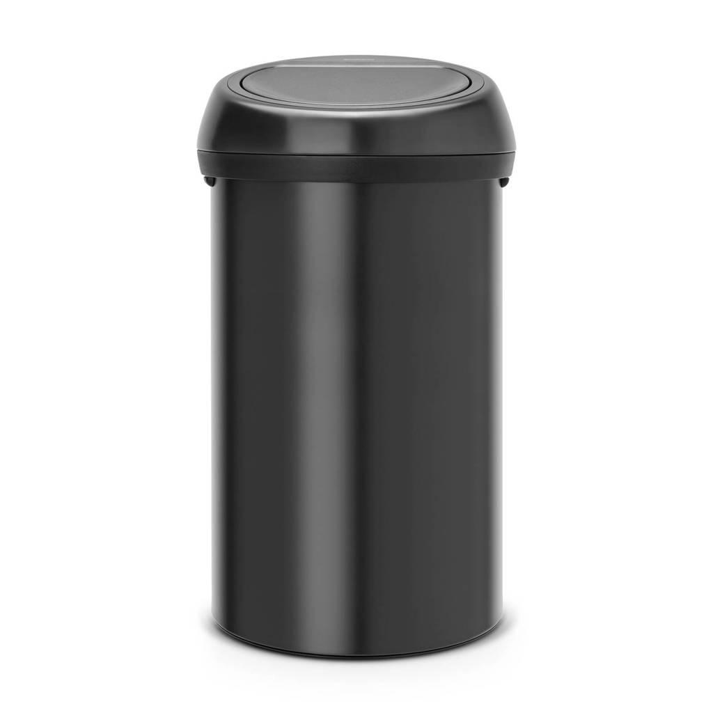 Brabantia Touch Bin, 60 liter prullenbak, matt black