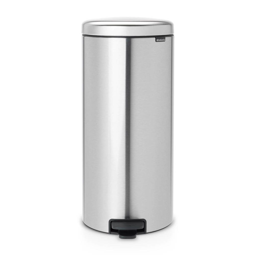 Brabantia Newlcon, 30 liter pedaalemmer, matt steel fingerprint proof