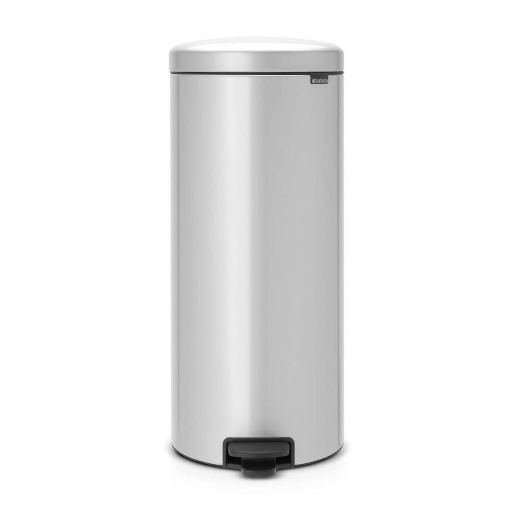 Brabantia Newlcon pedaalemmer, 30 liter, metallic grey