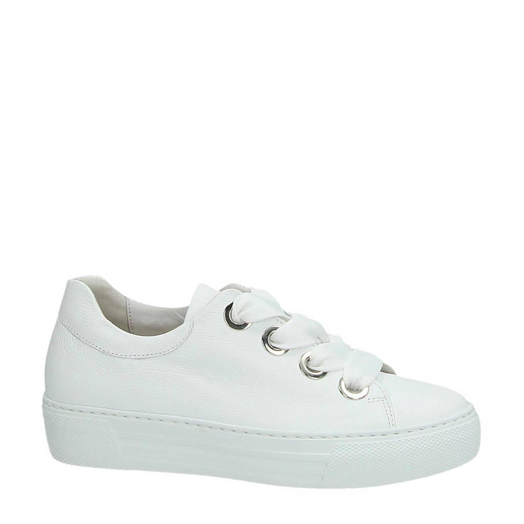 Gabor  leren sneakers wit, Wit