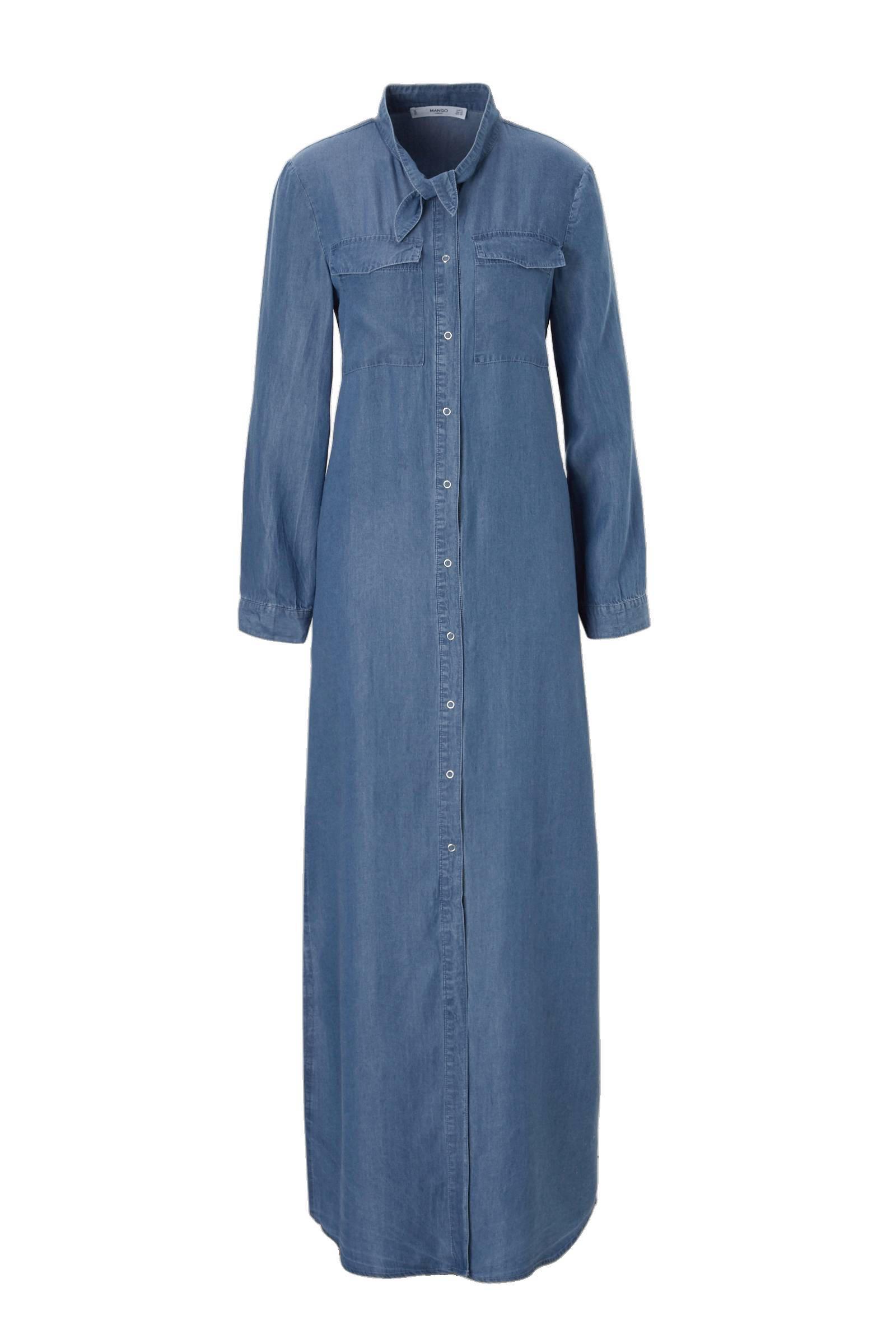 lange denim jurk