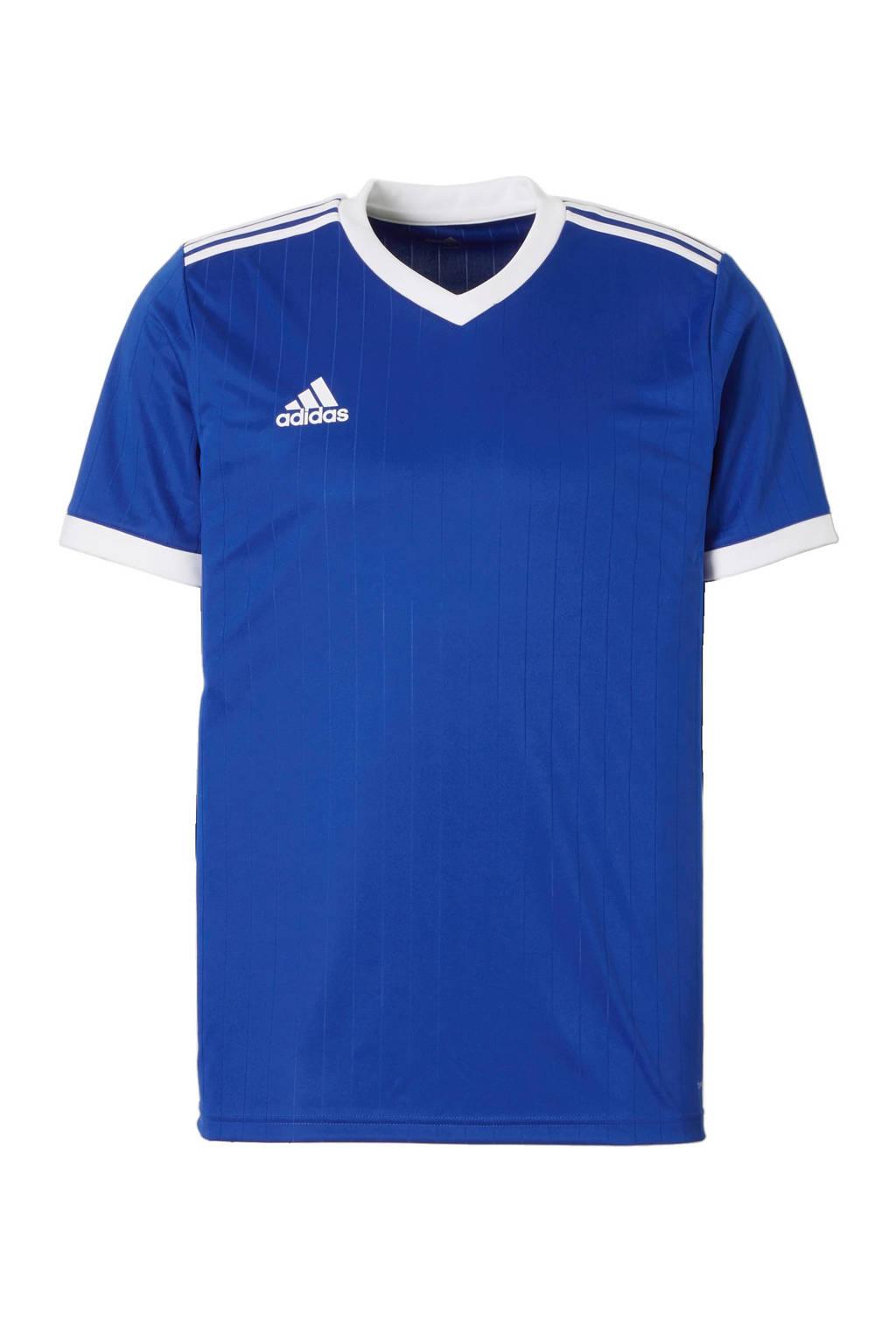 adidas Senior  sport T-shirt Tabela blauw/wit, Blauw/wit, Heren