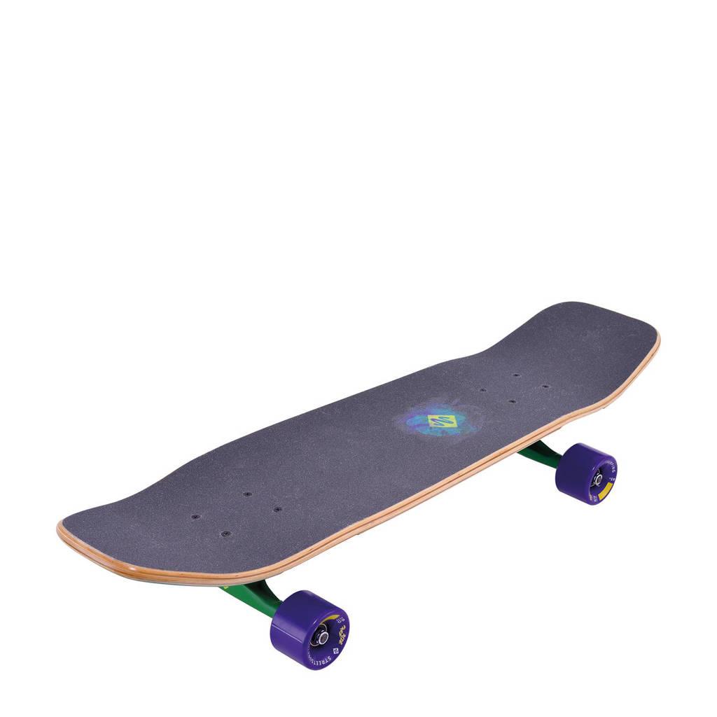 StreetSurfing Freeride 31 longboard, Paars/groen/geel