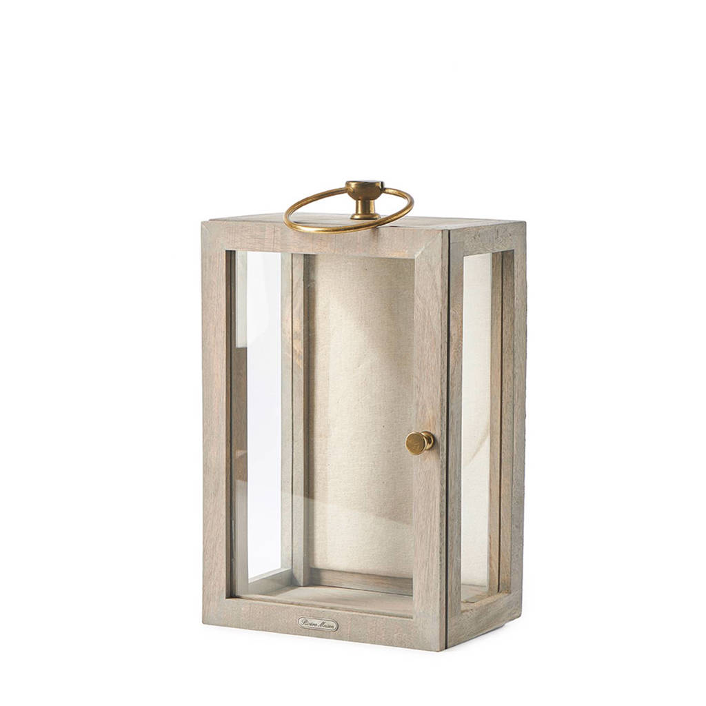 Riviera Maison displaybox, Naturel/transparant/goud