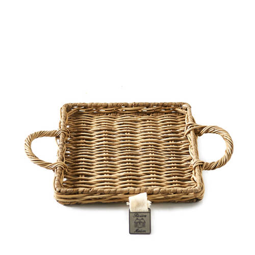 Rustic Rattan Mini Tray