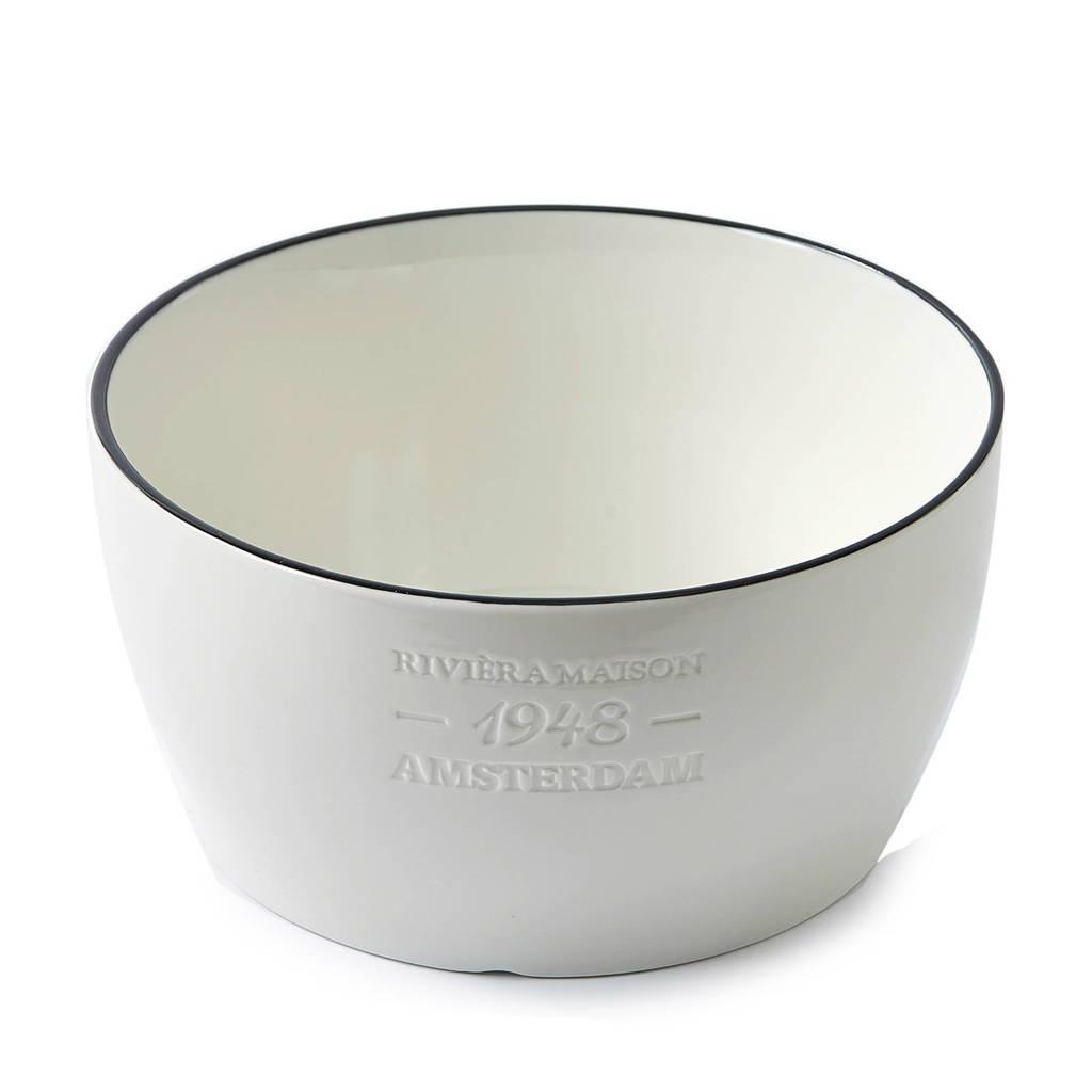 Riviera Maison Bistro schaal (Ø24 cm), Wit/zwart