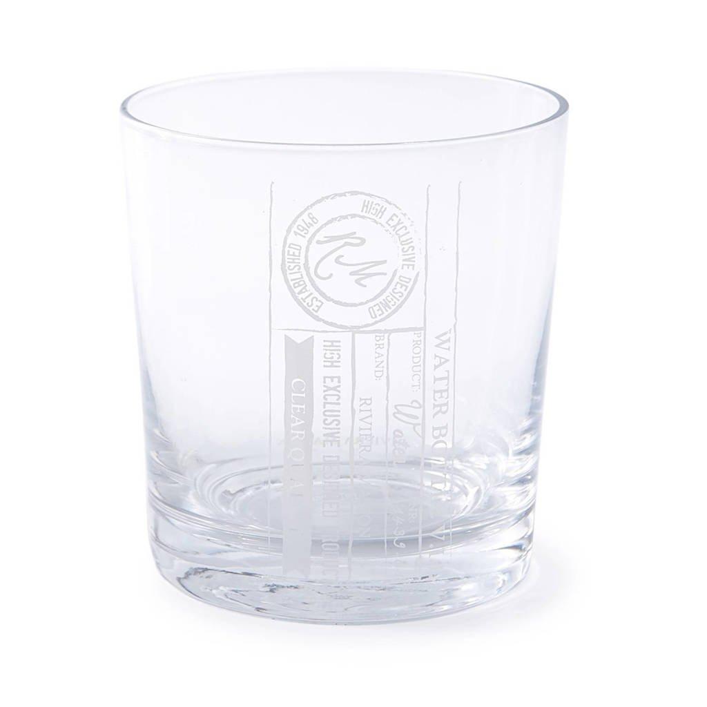 Riviera Maison Clear Quality waterglas (Ø8,5 cm), Transparant