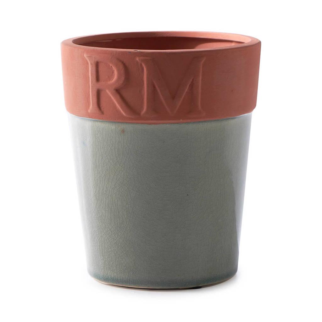 Riviera Maison bloempot XL, donkergroen/bruin