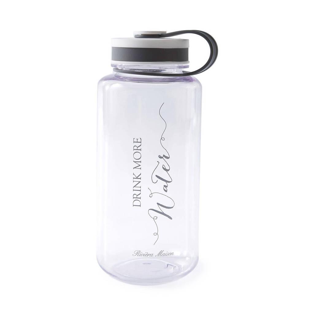 Riviera Maison waterfles (500 ml), Transparant