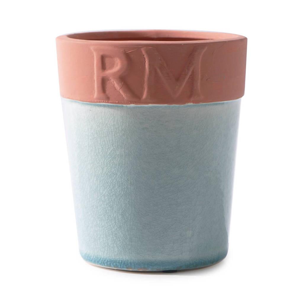 Riviera Maison bloempot M, Lichtgroen/bruin