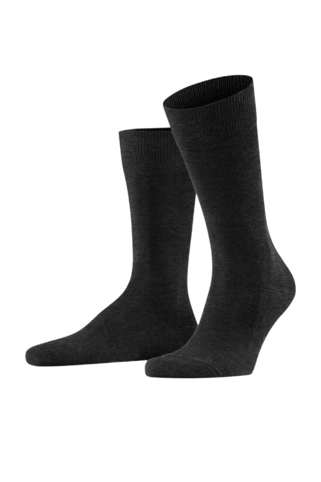 FALKE sokken Family SO, Antraciet melange