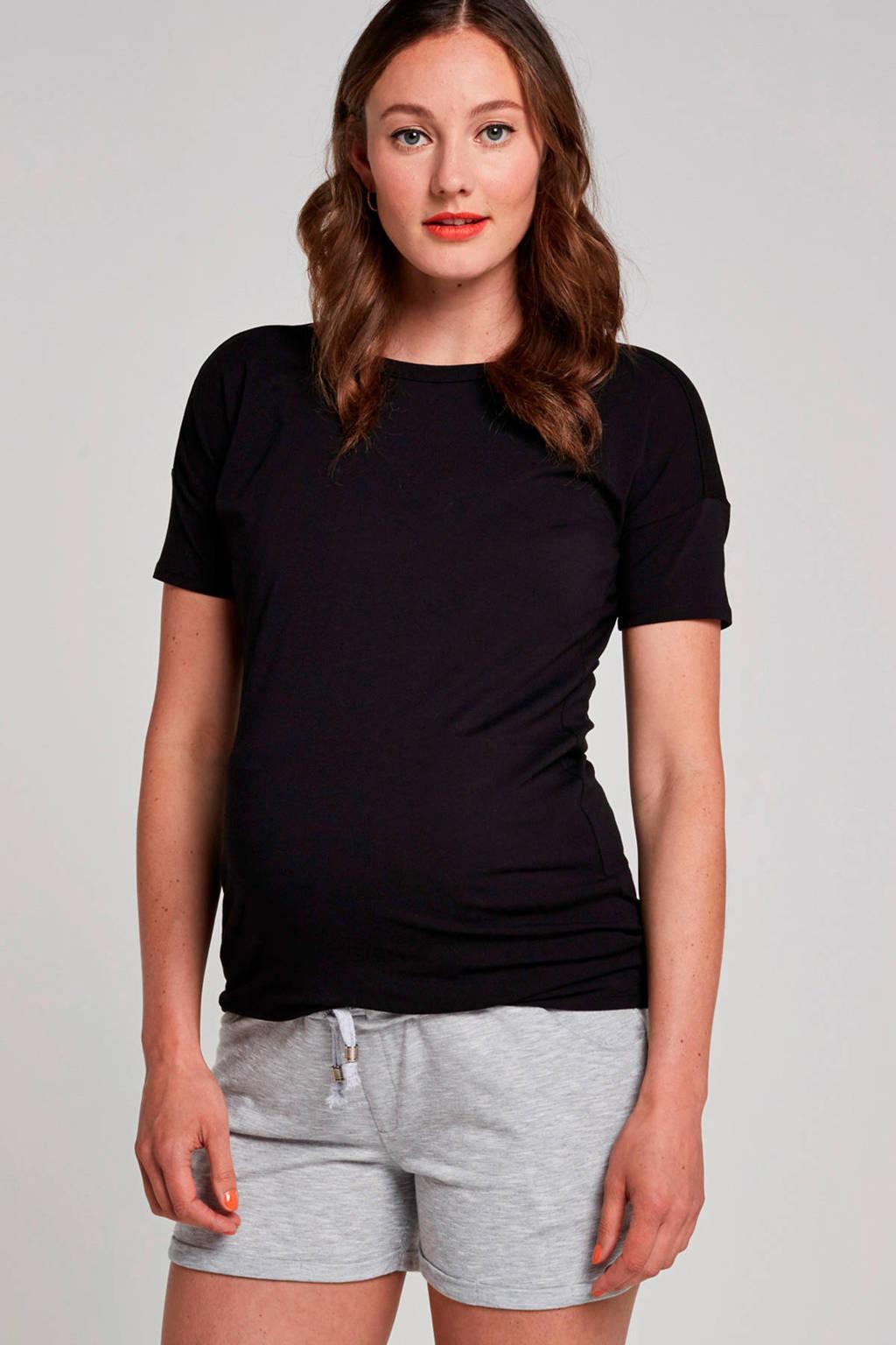 Supermom zwangerschapsshirt Basics zwart, Zwart