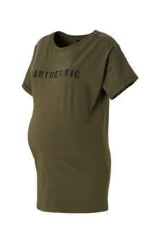 zwangerschaps T-shirt met tekstopdruk