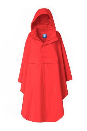 Rosa onesize regenponcho rood
