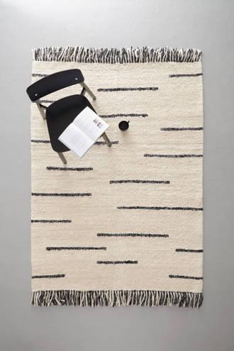 vloerkleed met wol  (230x160 cm)
