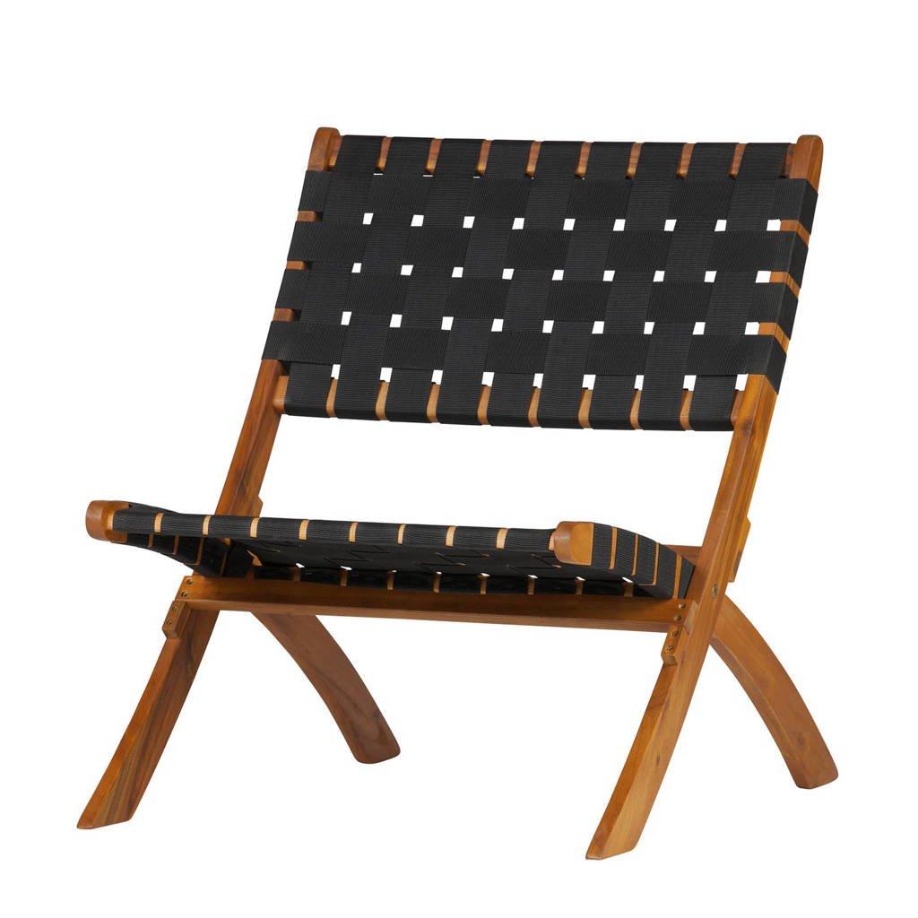 WOOOD Exclusive fauteuil Lois, Hout, zwart