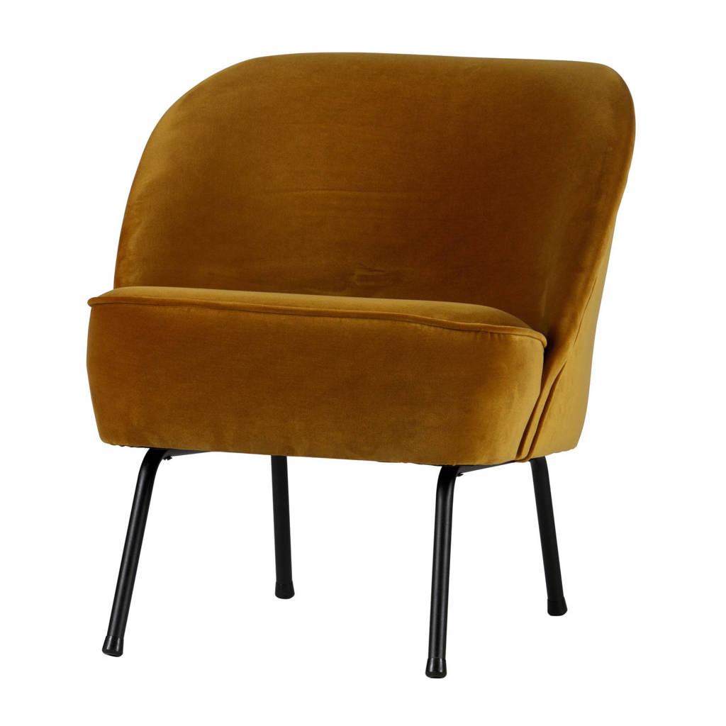BePureHome fauteuil Vogue velours, Okergeel