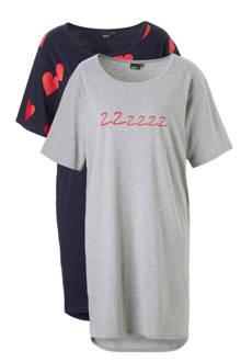 nachthemd set van 2 met printopdruk