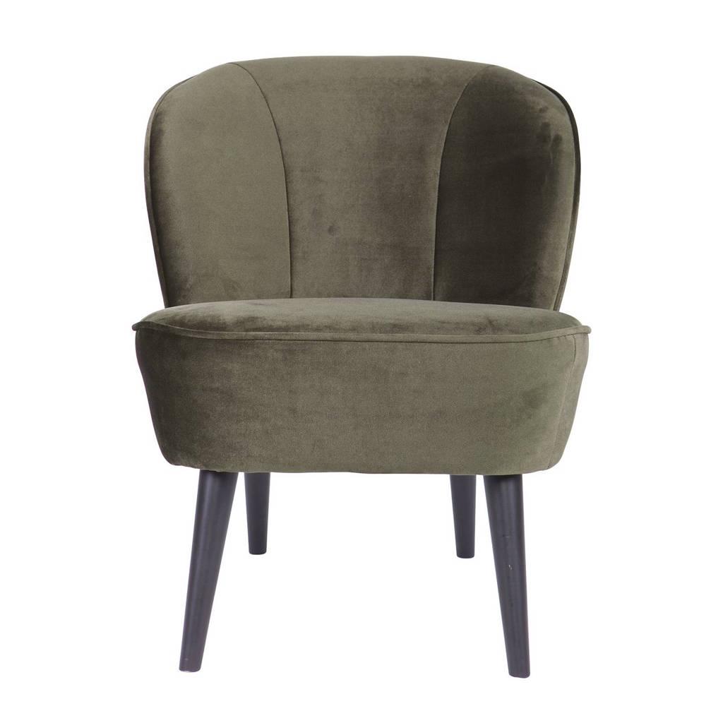 Woood fauteuil Sara velours Sara, Warm groen