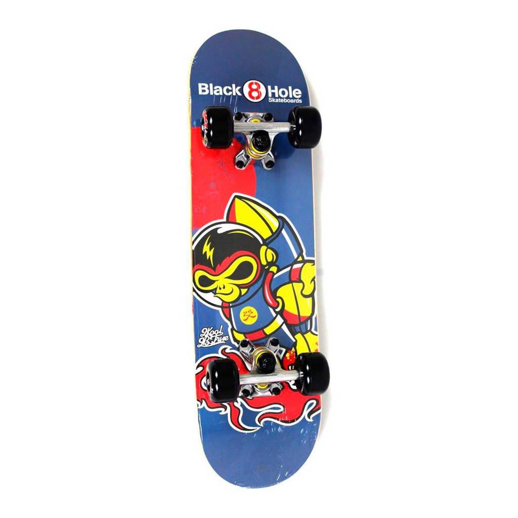 Black8Hole skateboard Monkey, Blauw/rood/geel