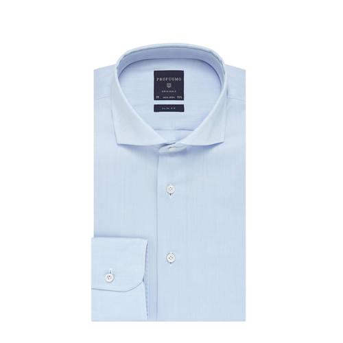 Profuomo non iron overhemd slim fit lichtblauw 38