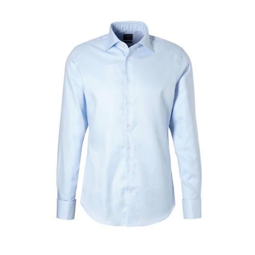 Profuomo overhemd slim fit blue dubbele manchet 38