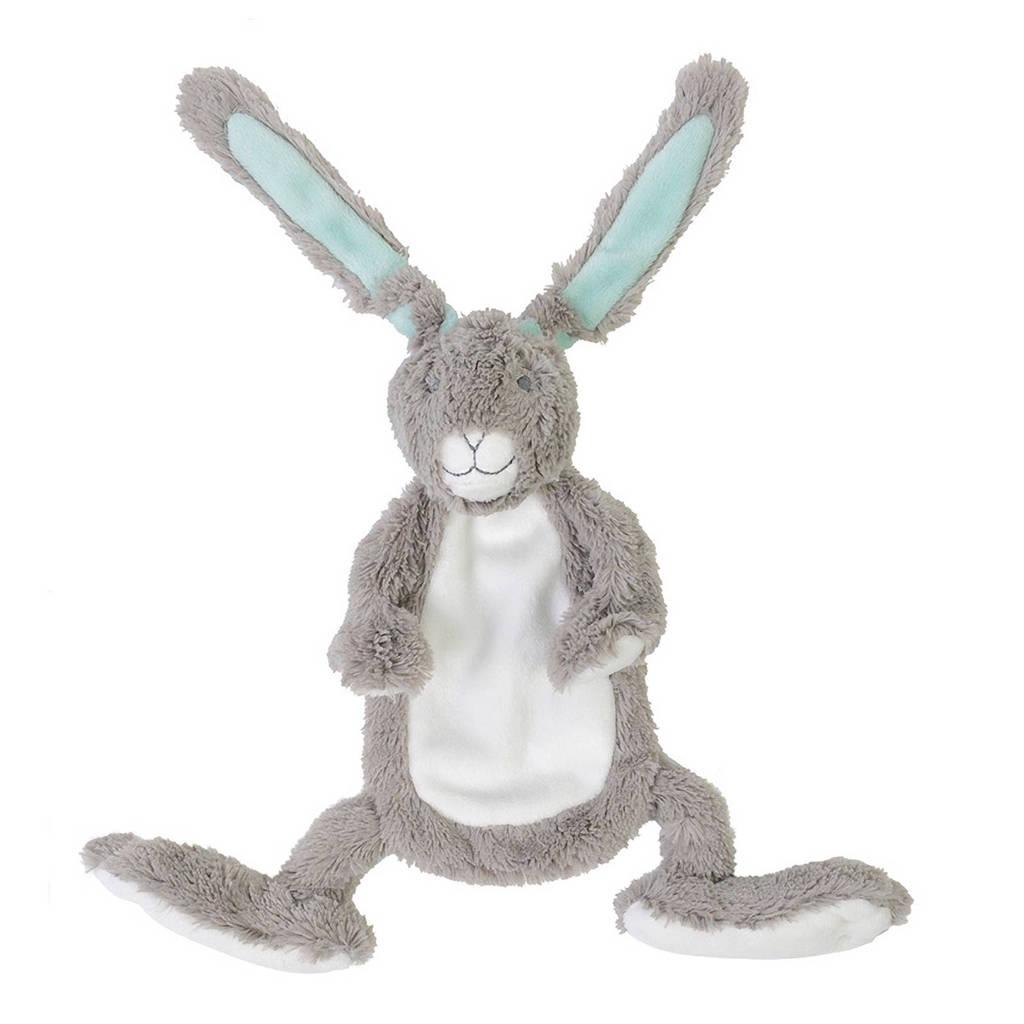 Happy Horse konijn grijs Twinedoekje knuffel 30 cm, Grijs