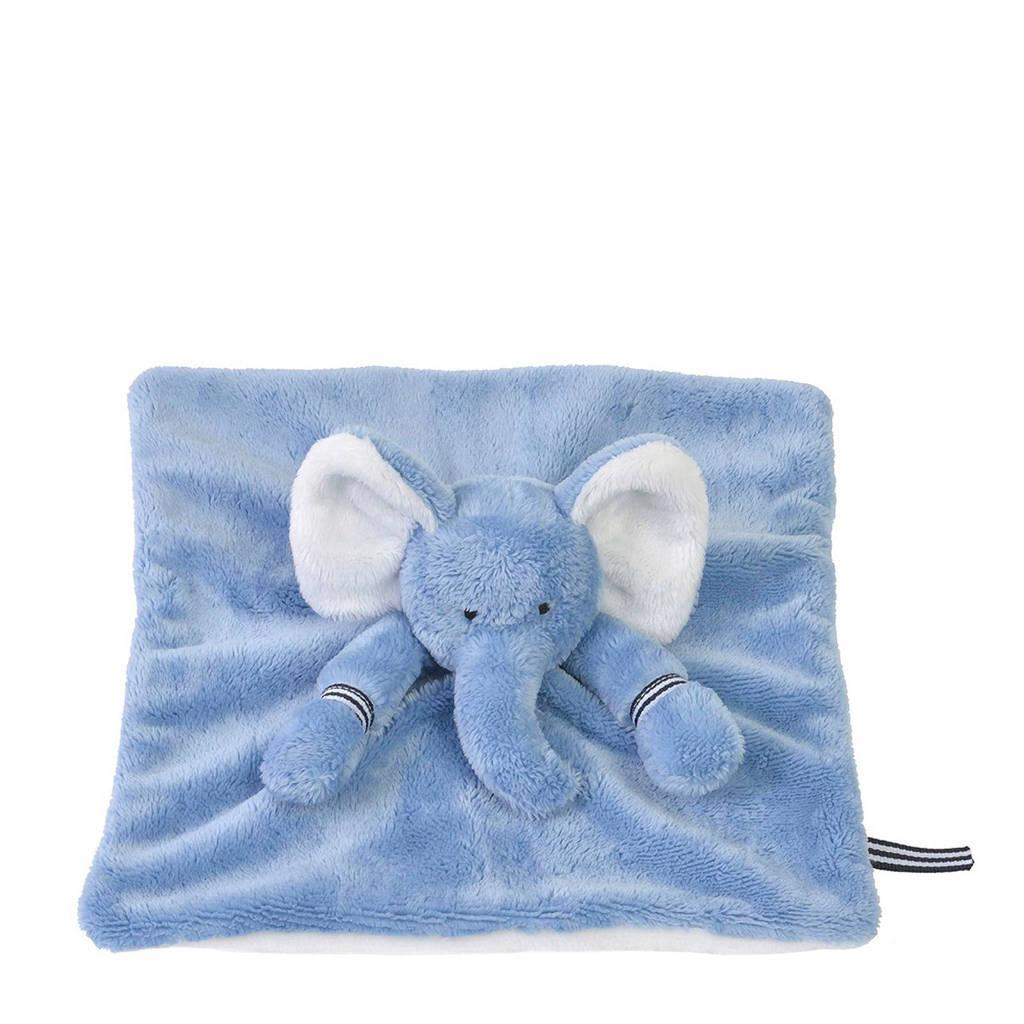 Happy Horse olifant Emojidoekje knuffeldoekje, Blauw