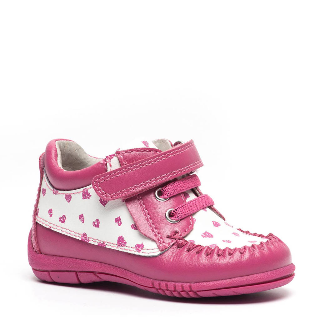 TwoDay  leren sneakers, Roze/wit