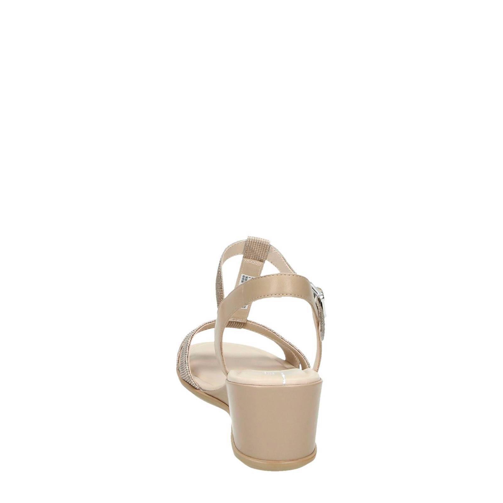leren sandalettes Shape 35 Wedge beige