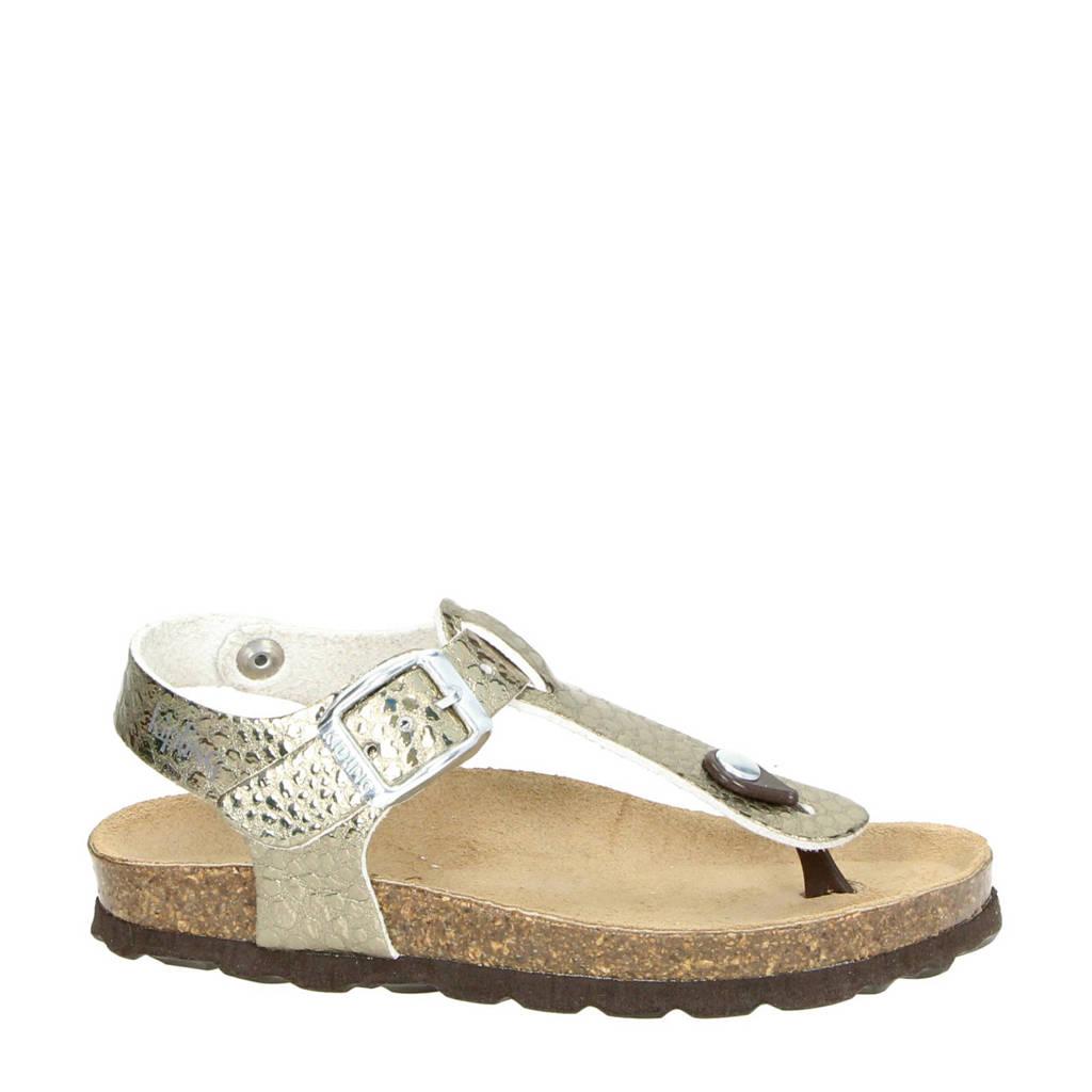 Kipling   Maria metallic sandalen, Goud