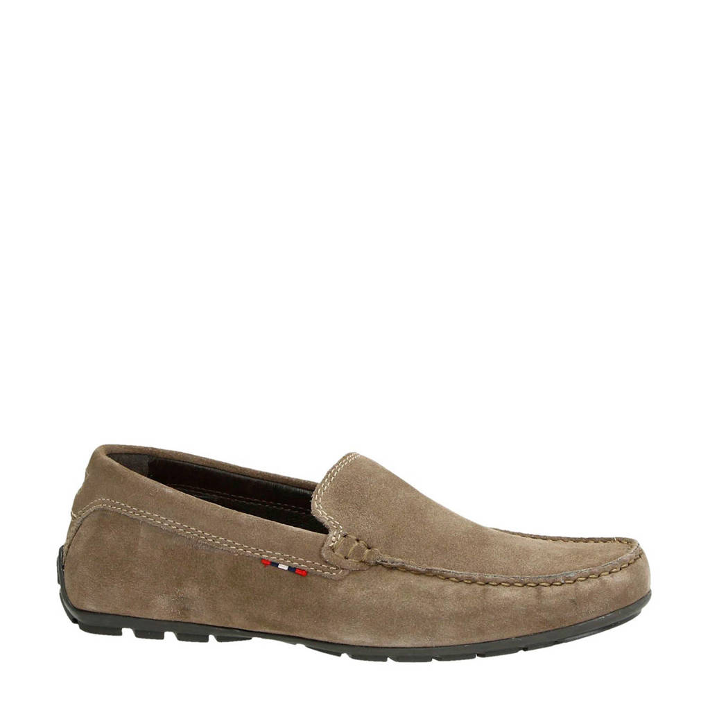 Nelson suède mocassins taupe, Taupe