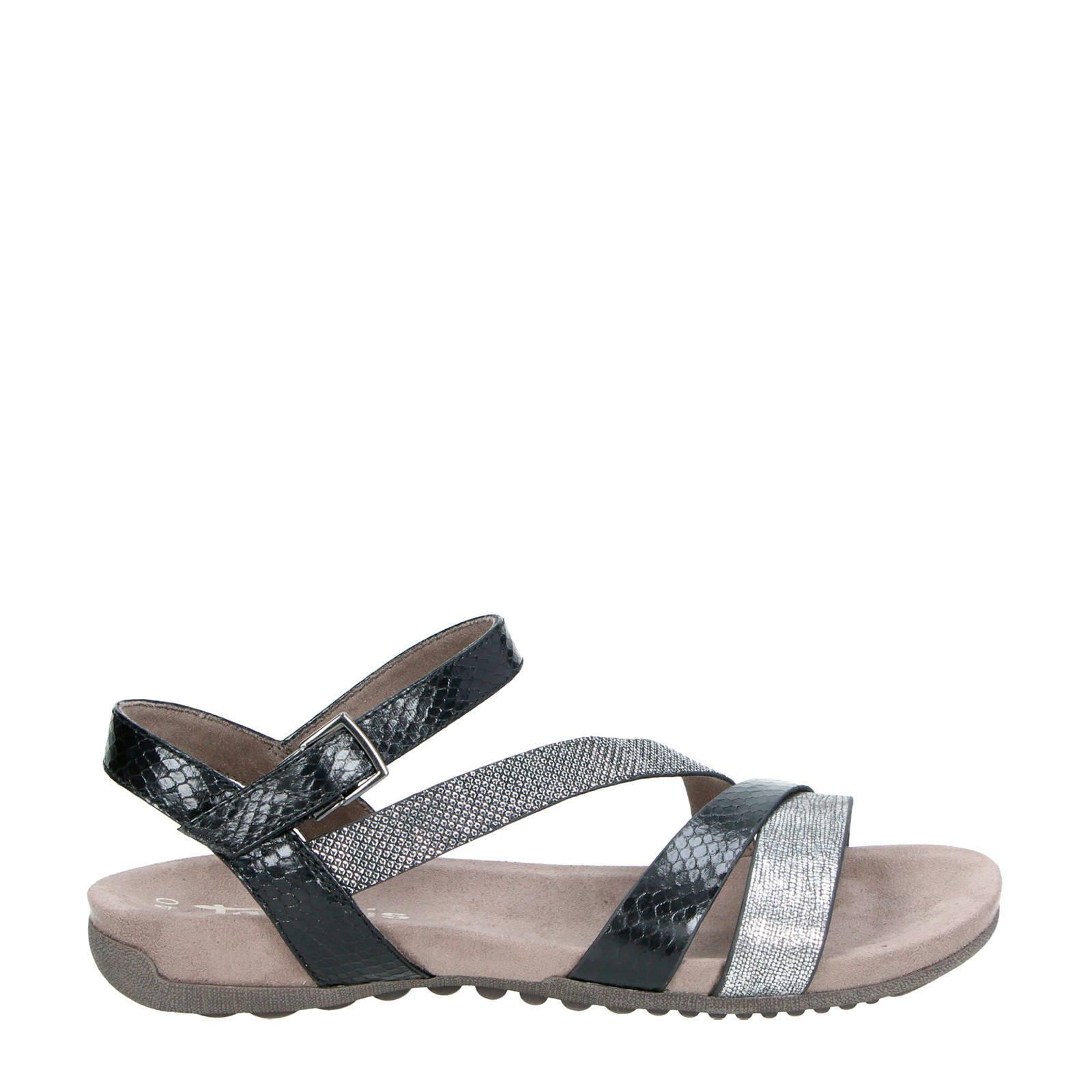 sandalen met reptielenprint
