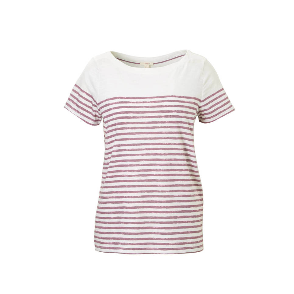 Women Casual T Shirt Met Strepen by Wehkamp