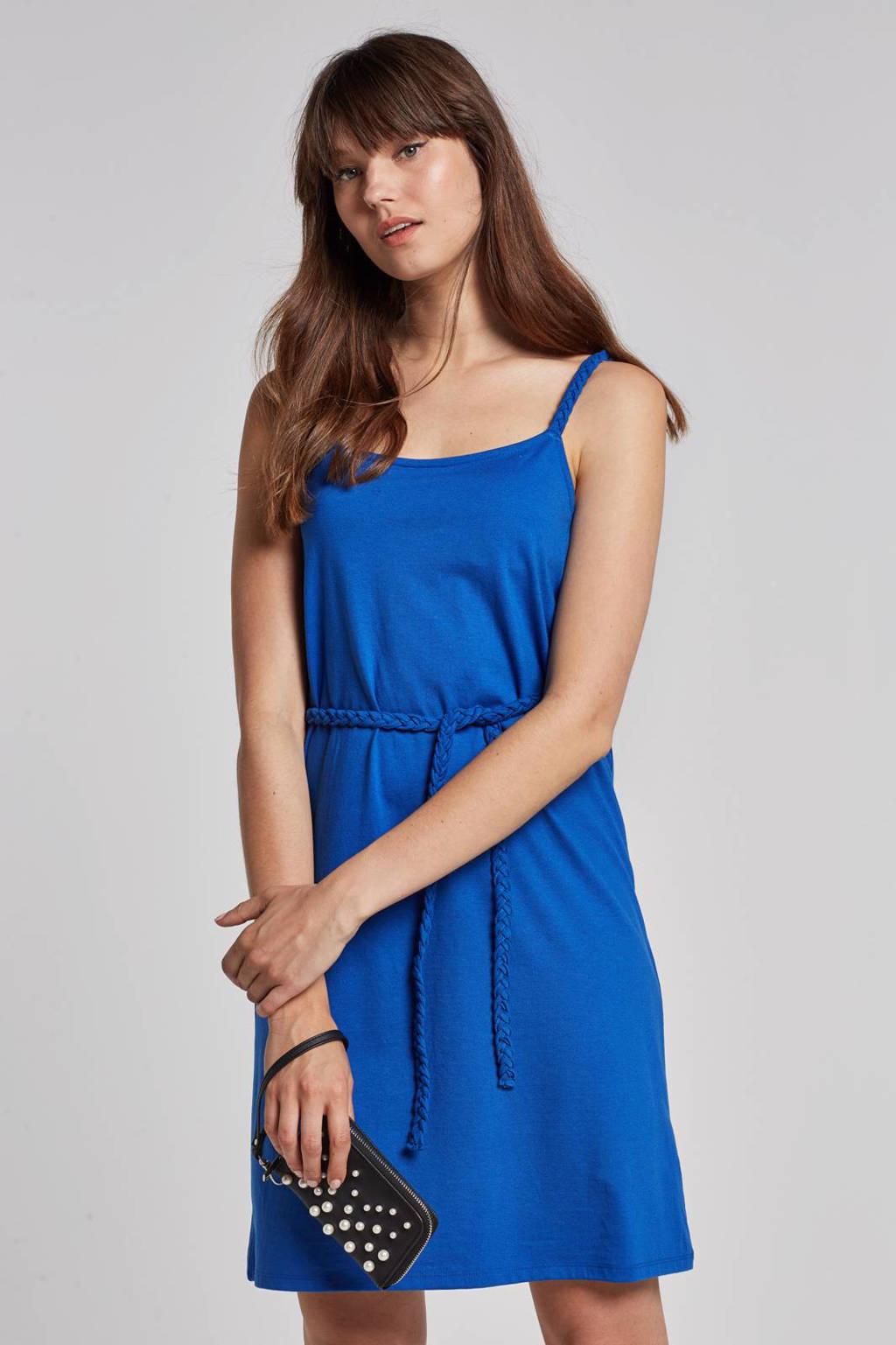 edc Women jurk met gevlochten details, Blauw