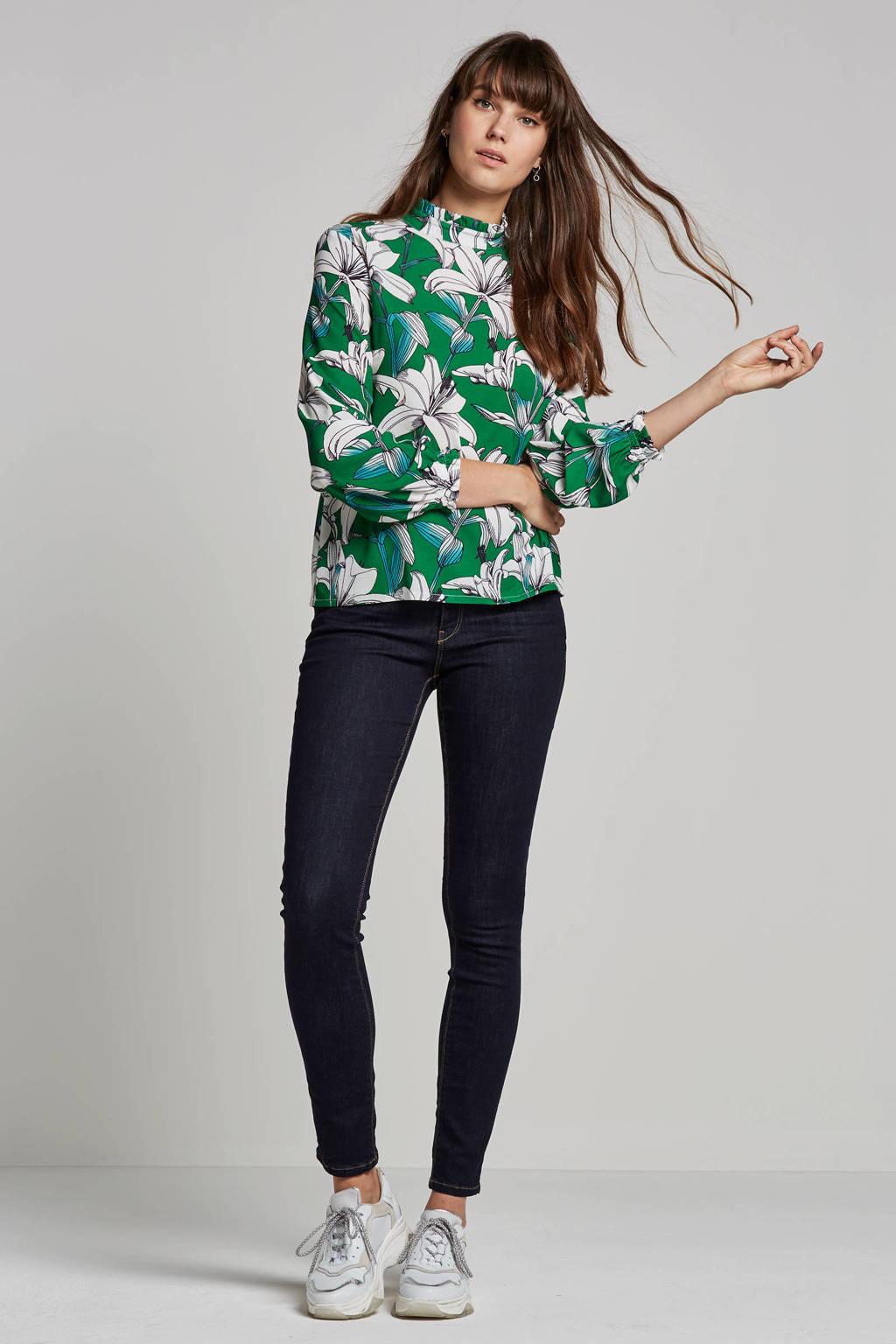 ESPRIT Women Casual slim fit jeans, Donkerblauw