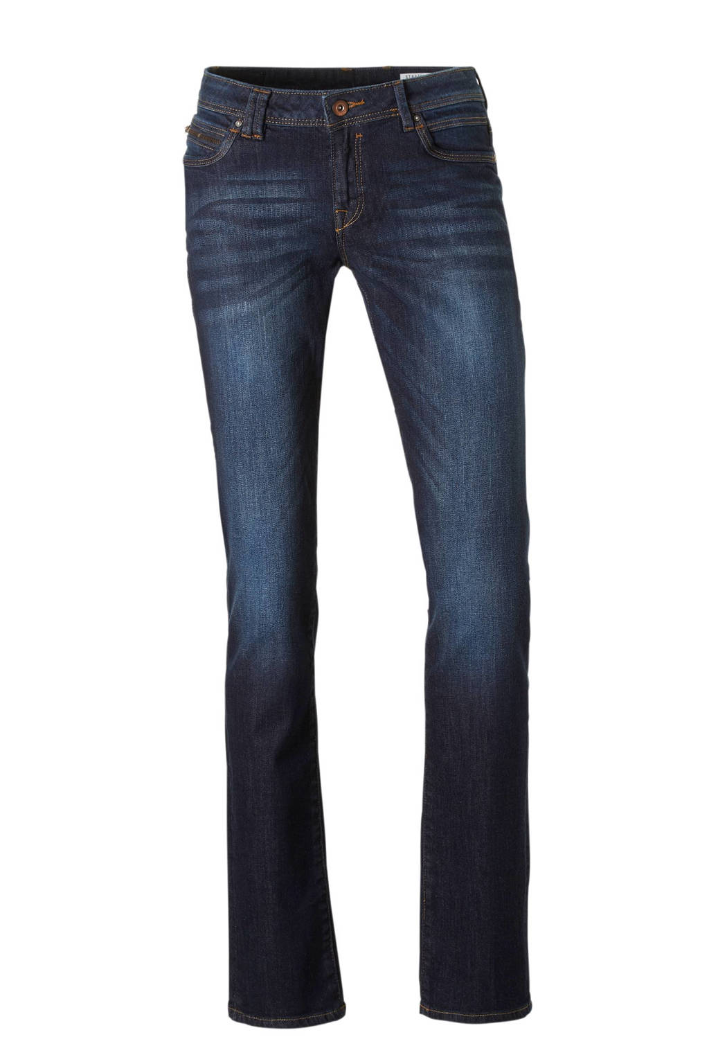 edc Women straight fit jeans, Donkerblauw